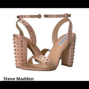 Steve Madden Pink Satin Ankle Strap Embellished